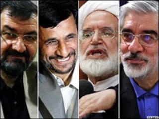 موسوی، کروبی، احمدی و رضایی - عکس از خبرگزاری فارس