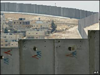 Muro entre Israel y Cisjordania.