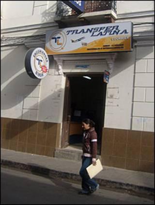 Empresa donde se reciben transferencias