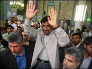 O presidente Mahmoud Ahmadinejad votou na sexta-feira