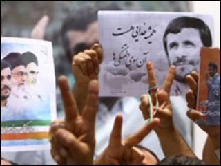 Eleitores de Ahmadinejad comemoraram vitória nas ruas. Foto: AFP/Getty Images