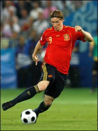o jogador espanhol Fernando Torres