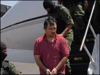 Juan Manuel Jurado Zarzoza, presunto narco detenido (foto cortesía sitio de internet SEDENA).