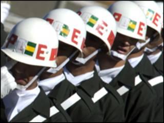 Soldados brasileiros (Foto Marcello Casal JR/ ABr, 25/08/2008)