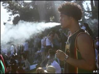 Manifestación en favor de la legalización de la marihuana