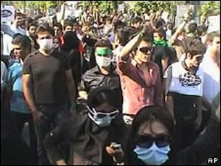 Manifestação oposicionista em Teerã