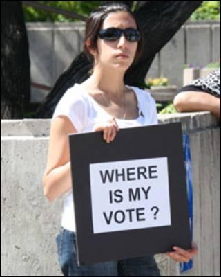 معترض به نتیجه انتخابات