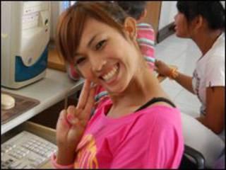 Một katheoy tại một quán internet cafe