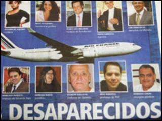 Portada de periódico brasileño informando sobre el accidente
