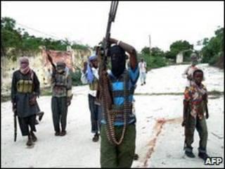 مقاتلون صوماليون