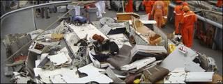 Partes recuperadas del vuelo AF 447 de Air France