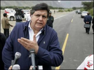 Alan García, presidente de Perú (foto cortesía agencia Andina).