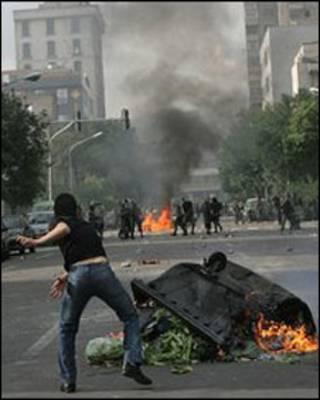 ناآرامی های تهران