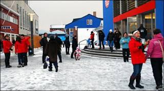 В центре города Нук, столицы Гренландии
