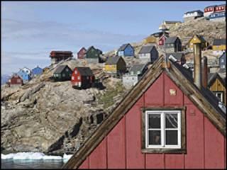 Pueblo inuit de Uummannaq, Groenlandia