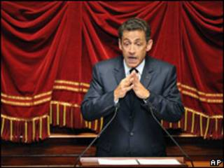 Nicolás Sarkozy, presidente de Francia.