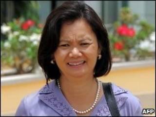 Nữ dân biểu Mu Sochua thuộc đảng Sam Raisy