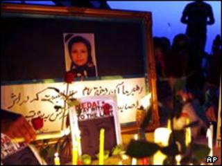 مراسم سوگواری برای کشته ها از جمله ندا آقاسلطان