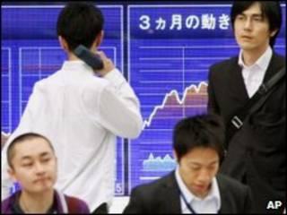 Mercados financieros en Asia