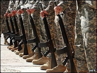 बगराम में सैनिक