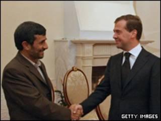 مدودف و احمدی نژاد