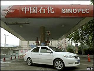 Gasolinera de Sinopec en China