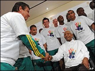 Joel Santana, Nelson Mandela e o time da África do Sul