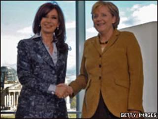 Cristina Kirchner e Angela Merkel