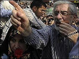 Mir Hossein Mousavi. Foto de archivo: 15-06-09