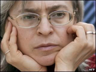 Anna Politkovskaya.