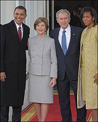 बराक ओबामा और बुश
