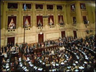 Câmara de deputados na Argentina