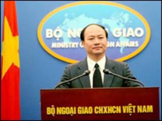 Phát ngôn nhân Bộ Ngoại giao Việt Nam ông Lê Dũng