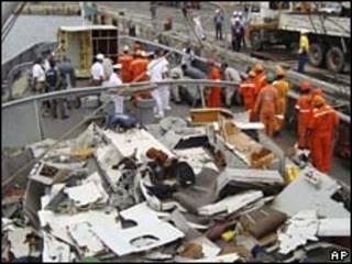 قطعات یافت شده هواپیمای ایرفرانس