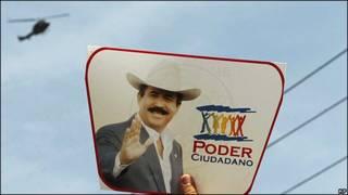 Propaganda electoral de Manuel Zelaya, presidente de Honduras.