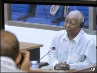 Ông Vann Nath, 63 tuổi, tại phiên xử Đồng chí Duch
