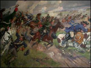 """Полтавский бой"". Николай Самокин, 1940"