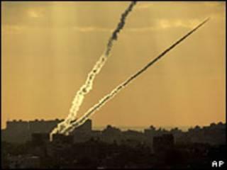 صواريخ تطلق من غزة