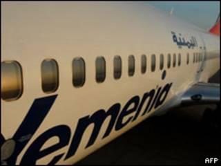Avião com logotipo da Yemenia (arquivo)