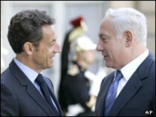 سارکوزی (چپ) و نتانیاهو