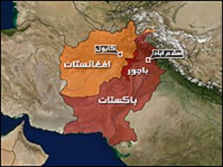 خريطة تُظهر باكستان وأفغانستان
