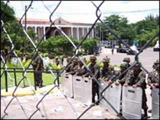 Foto de jornalista hondurenho