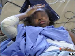 Bahia Bakari no hospital de Comores