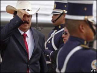 El depuesto presidente de Honduras, Manuel Zelaya, en Panamá