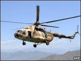 Helicóptero militar MI-17. Foto: AFP