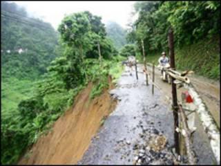 Quang cảnh sau bão tại Bắc Kạn (ảnh VietnamNet)