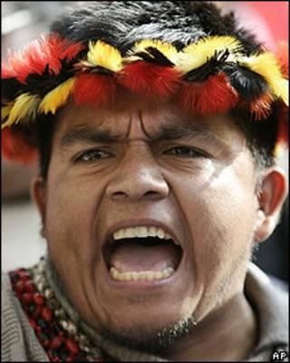 Protestas indígenas en Perú.