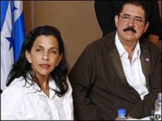 Patricia Rodas y Manuel Zelaya