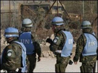 جنود تابعون للامم المتحدة في جنوب لبنان