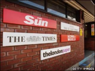 Entrada de la corporación News International en el Reino Unido.